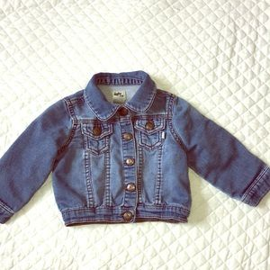 One of my greatest baby purchase. Jean Jacket 12M